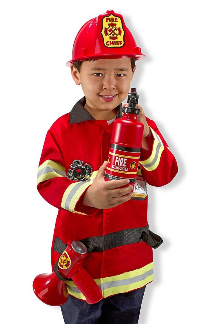 Melissa & Doug Role Play Outfit - Fire Chief Costume